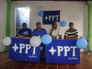 Presídium autoridades del PPT Guárico