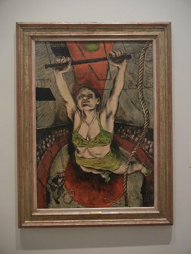 DSCN1310 _ Woman on Trapeze, 1946, Karl Zerbe, Blanton Museu, Austin