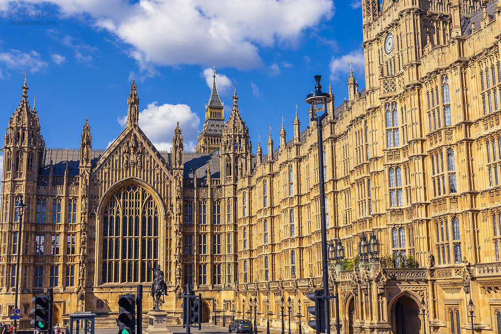 Beautiful gothic architecture of Westminster