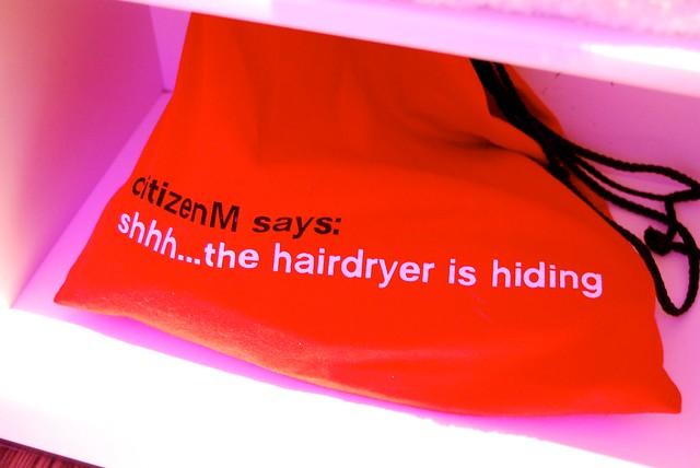 citizenM Bankside Hairdryer