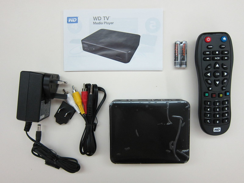 WD TV - Box Contents