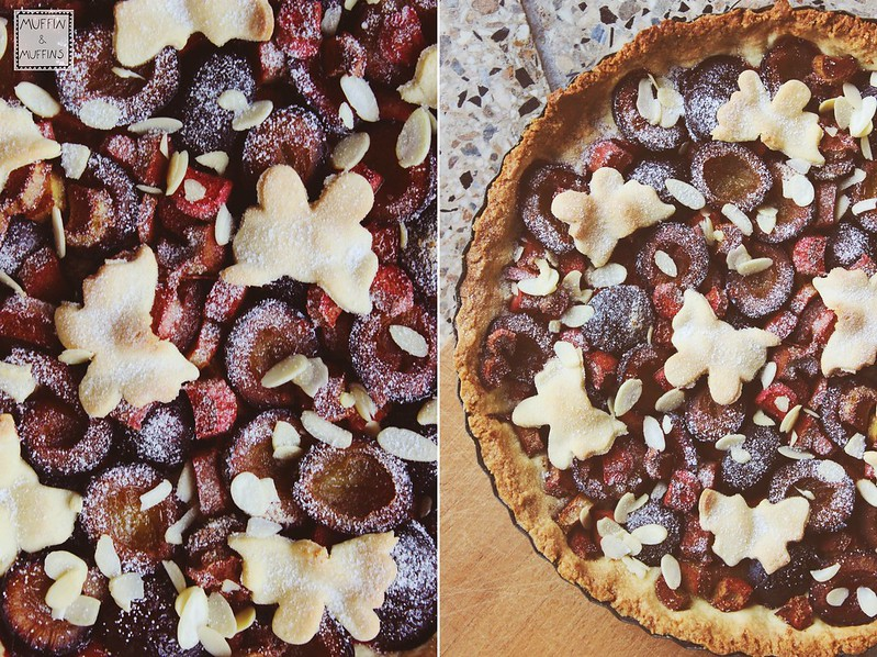 Plum and Rhubarb Tart