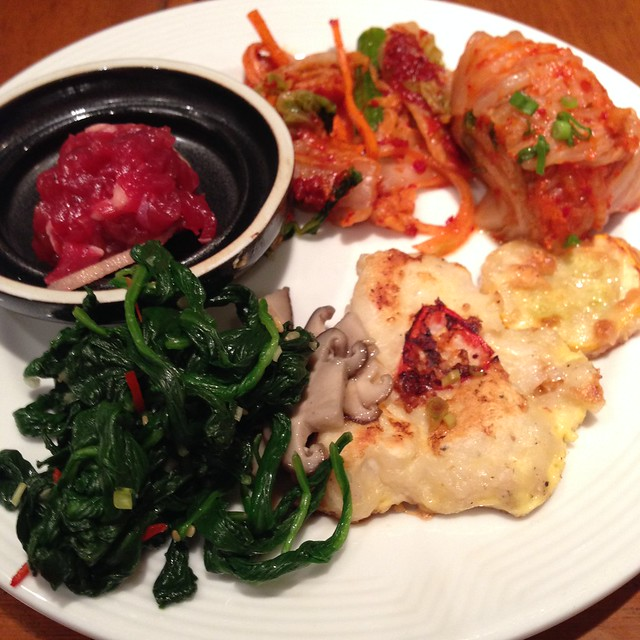 My Banchan platter at Olive Tree's Korean Food Promo Buffet