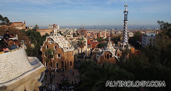 View of Park Guell from the square