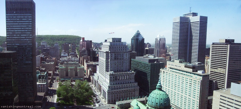 Downtown Montreal (from Château Champlain - 2011) panoramic 1