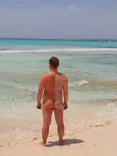 Image of Es Trenc Beach near Ses Salines. beach nude spain sand butt playa shore nudist es mallorca fkk majorca platja nudismo nudism desnudo nudists estrenc nudista trenc coloniasantjordi