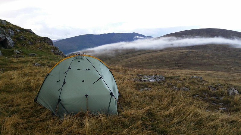 The camp on Calfhow Pike #sh