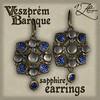 AZE Veszprem Baroque Sapphire Earrings