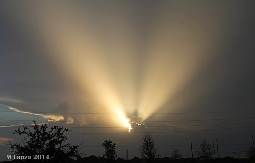sunset storm texas katy houston thunderstorm crepuscularrays optics