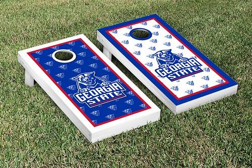 Georgia State Panthers Cornhole Game Set Border Version 2