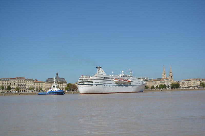 OCEAN MAJESTY en route pour Bordeaux - 01 septembre 2014