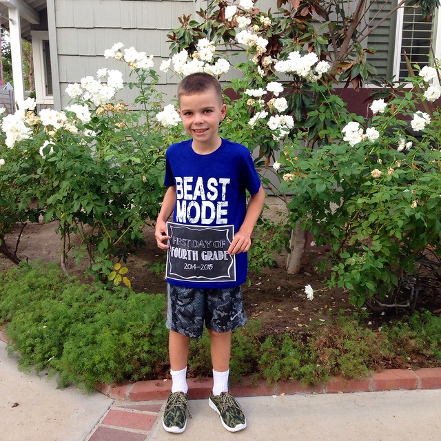First Day of 4th Grade 2014-2015