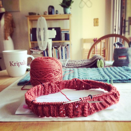 Pea soup humidity gone! Lotsa knitting gonna happen today #bpnk2014 #bluepeninsula #knit #knitstagram #knittersofinstagram