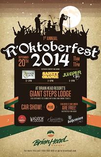 Poster: R'Oktoberfest (Brianhead.com)