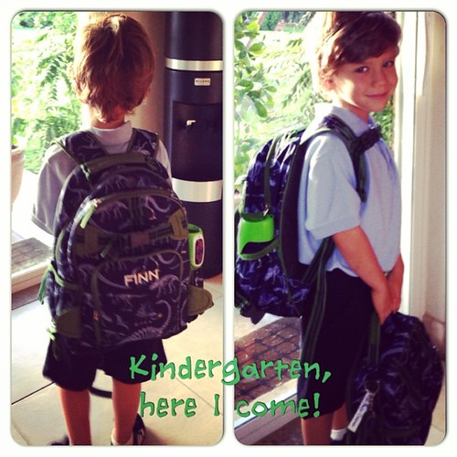 ...before we headed out this morning on the way to Finn's first day of kindergarten!