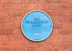 Photo of Eccles Town Hall blue plaque
