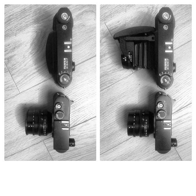 Leica M9 vs. Fuji GF670!