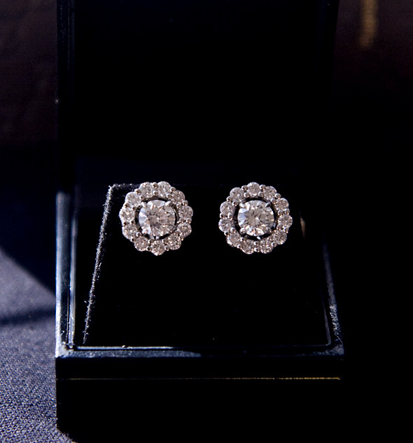 Vintage Platinum & Diamond Earrings