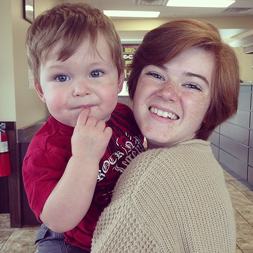 Auntie Katie and Malachi