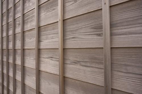 wood grid wall