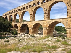 historic site(0.0), devil's bridge(1.0), ancient roman architecture(1.0), arch(1.0), ancient history(1.0), aqueduct(1.0), landmark(1.0), architecture(1.0), ruins(1.0), arch bridge(1.0), viaduct(1.0), bridge(1.0),