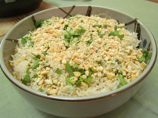 Coconut Basmati Rice with Cashews