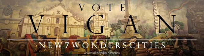 Click to Vote Vigan New 7 Wonders Cities