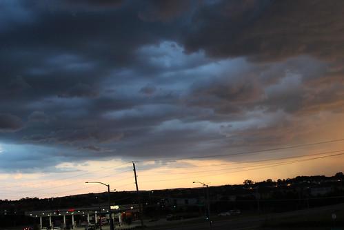 beautiful clouds evening fall kansas landscape sky sunset weather