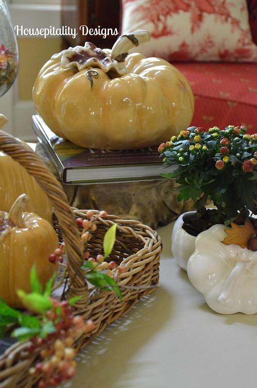 Ceramic Pumpkins/Fall Table Vignette/Housepitality Designs
