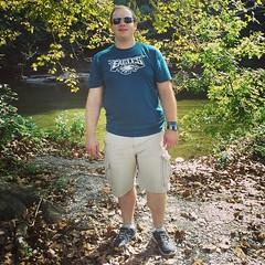 Sean on the Brandywine River