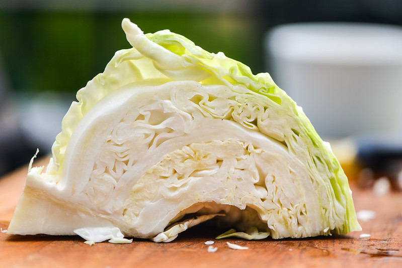 Grilled Cabbage with Ginger-Miso Dressing