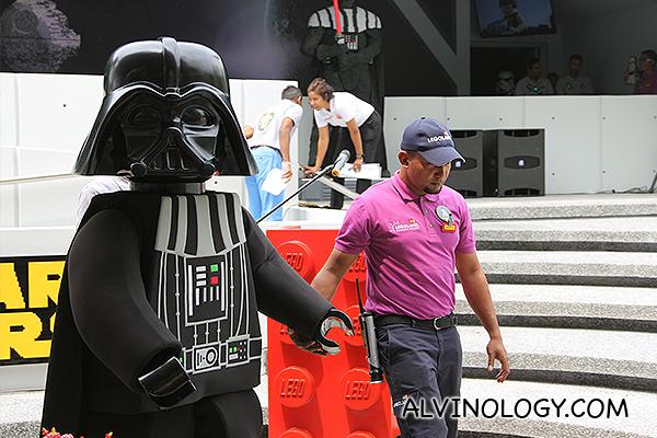 LEGO Darth Vader figurine strolls by