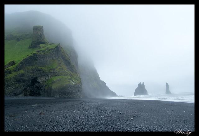 Islandia cascada Seljalandsfoss Skógafoss Vík - Rocas Reynisdrangar en Playa Reynisfjara