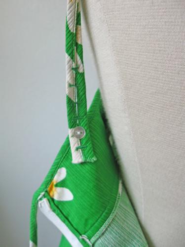 green dress back strap
