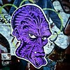 Purple Mutant #Damon #wheatpaste #graffiti #StreetArt #Williamsburg #Brooklyn #NYC