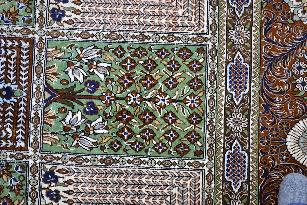 Pure Silk Qum Qom Persian Rug 7x10