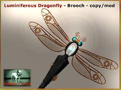 Bliensen - Luminiferous Dragonfly - Brooch
