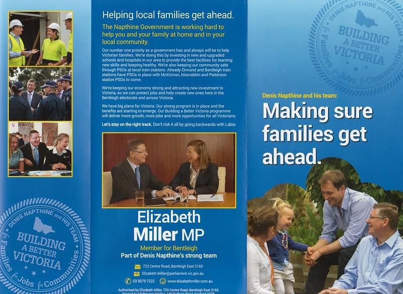 Liberal flyer, September 2014 (front)