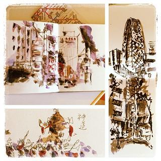 #japon #shinjuku #carbon #watercolor