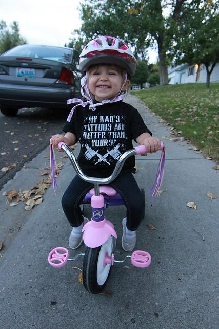 Elise first bike ride