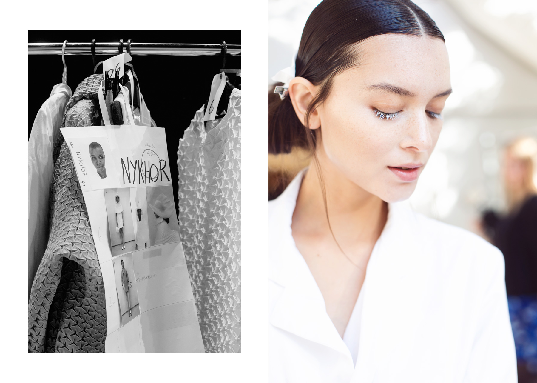Backstage at Issey Miyake SS15 by Carin Olsson (Paris in Four Months)