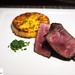 Caramelized Beef Tenderloin and Crunchy Potato Gratin