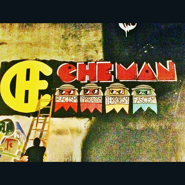 @snapofmiami stopped by to help out and snapped some great pics as well. #SnapOfMiami #CheMan #VivaCheMan #VivaChe #Che #streetarteverywhere #streetartmiami #streetart