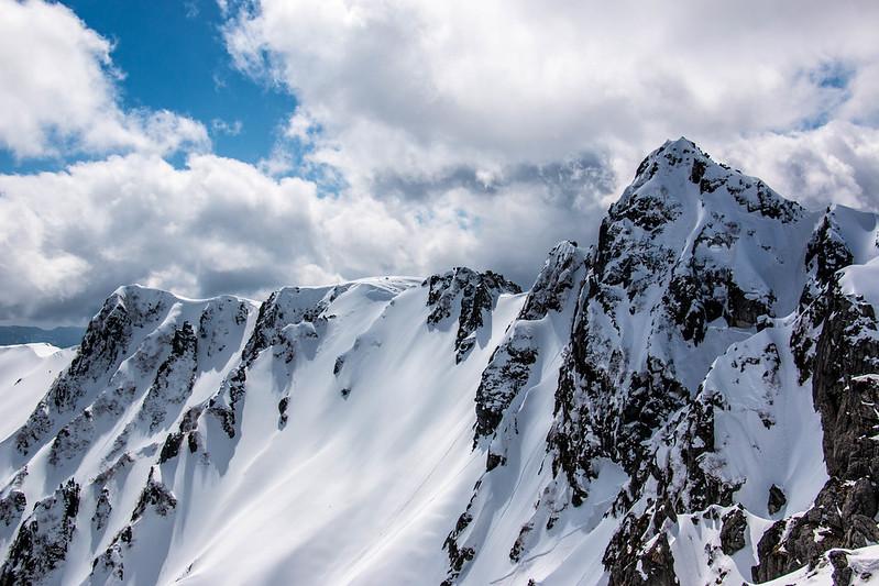 冬の宝剣岳