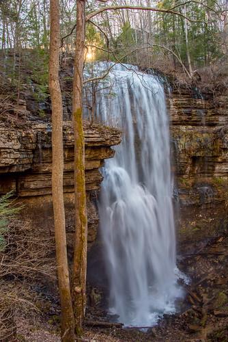 virginfalls tennessee whitecounty waterfall white sunset water