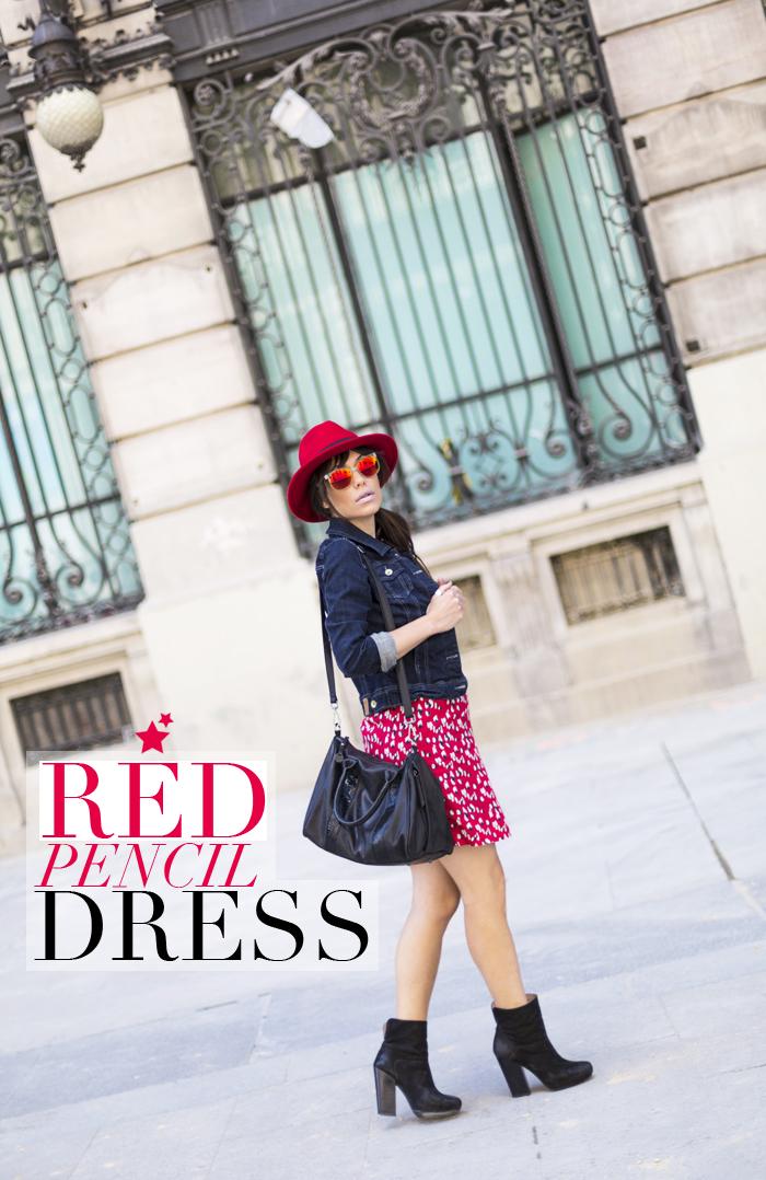 street style barbara crespo red pencil dress hat fashion blogger outfit blog de moda