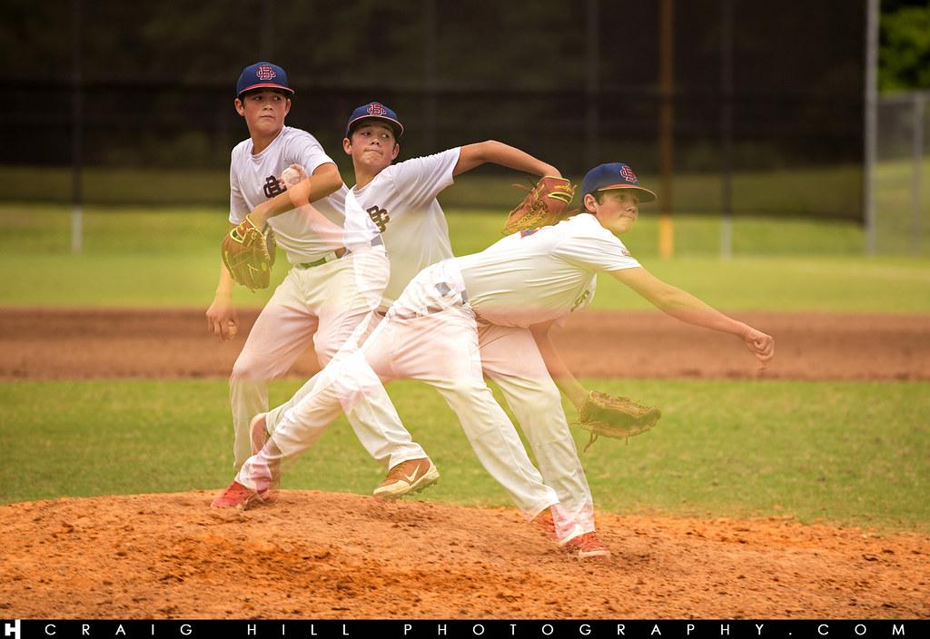 Baseball Multiple Exposure Shots