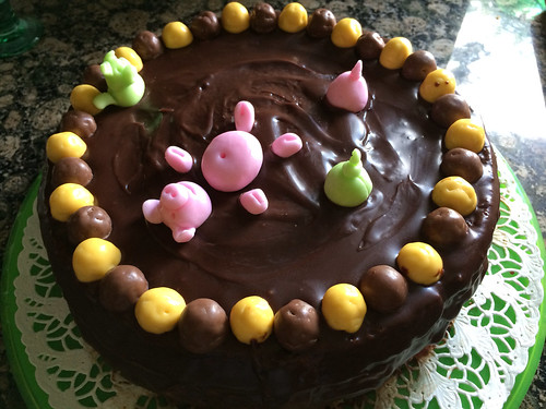 Pigs in mud bath cake