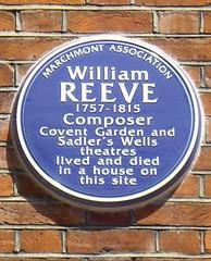 Photo of William Reeve blue plaque