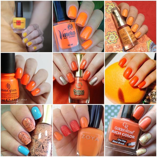 Лаковый флешмоб оранжевая лакопятница коллаж